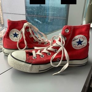 Red High Top Chuck Taylor Converse